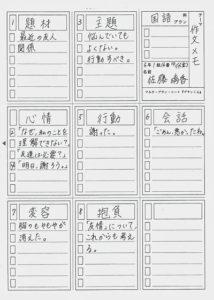 5年生(2015年度)による作文のメモ