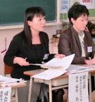 記事を使い投稿文を書いた授業について報告した福井教諭