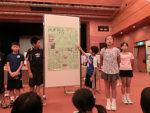 食育の授業で、取材した成果を壁新聞にまとめて発表する坂井市立長畝小6年生