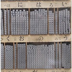 鉛活字のアップ写真