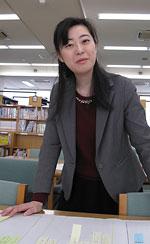 3校連携NIEの意義を語る伊吹侑希子教諭