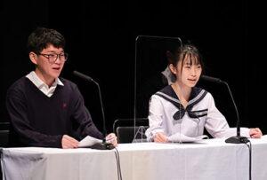 司会の山田さん(左)、古崎さん